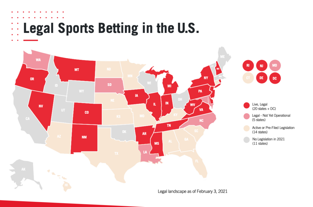 Where is sports betting legal in the usa nfl las vegas sportsbook odds football betting lines